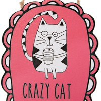 Crazy Cat Lady Ornament with Magnet Christmas Tree Ornament