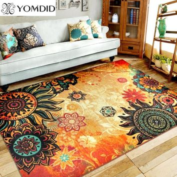 Bohemian carpet living room bedroom home carpet European style entry mats rectangular big size doormat SunFlower kitchen rugs