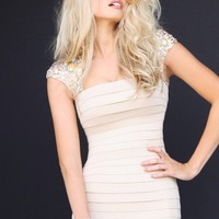 Sherri Hill 2934 Nude Cocktail Dress