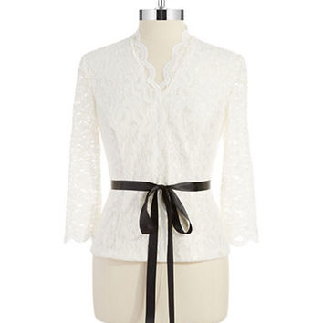 Alex Evenings Lace Blouse
