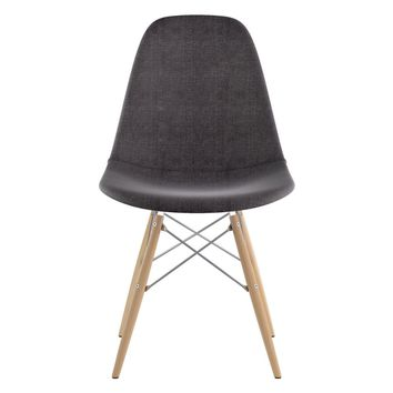 Mid Century Dowel Side Chair Charcoal Gray
