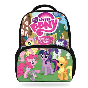 14inch Hot Sale Kids Cartoon Backpacks For Teenage Girls My Little Pony Bag For Children Boys