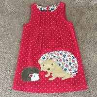 Girls Mini Boden Hedgehog Pinnie Size 2/3 NWOT