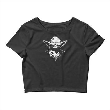 dj yoda ~ mens funny retro star wars Crop Top