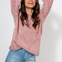 ALL OVER YOU CHENILLE KNIT