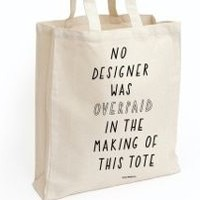 'No Designers' Tote Bag