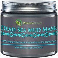 Dead Sea Mud Mask(8.8 oz), Melts Cellulite, Treats Acne and Problem Skin, Also Acts as Pore Minimizer and Wrinkle Reducer, By Premium Nature®