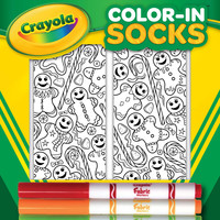 Color-In Socks Gingerbread Guys