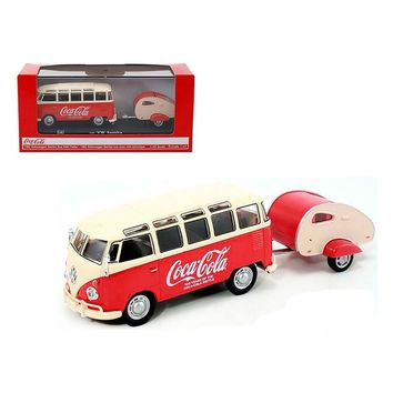 1962 Volkswagen Samba Bus 100 Years Anniversary of the Coca Cola Bottle 1/43 by Motorcity Classics
