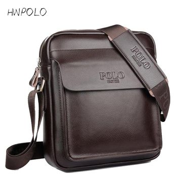 HWPOLO 2017 fashion men messenger bag men leather shoulder bag designer famous brand business briefcase crossbody bag for men