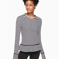 stripe ruffle pullover | Kate Spade New York