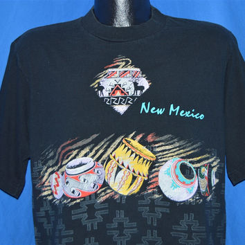 90s New Mexico Native American Pottery t-shirt Large