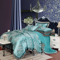 Luxury Silk Bedding Set Bed Linens Tencel Satin Bed Sheet Set
