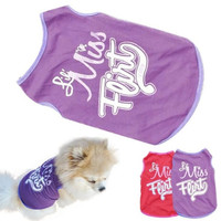 Dog Puppy Pet Clothes  T-Shirts Vest Summer Apparel = 1929727812
