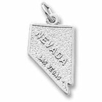 Las Vegas,Nevada Charm In Sterling Silver