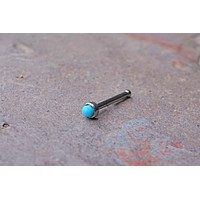 2mm Turquoise Nose Bone Nose Stud Nose Ring