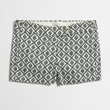 """Factory 3"""" printed stretch chino short"""