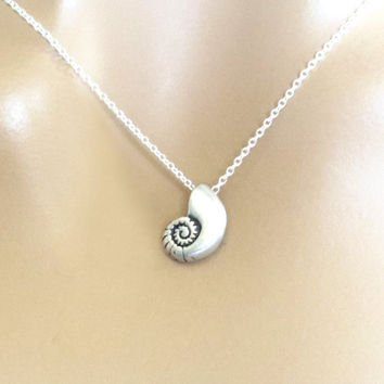 Ariel, Voice, Necklace, Little, Mermaid, Necklace, Mermaid, Necklace, Shell, Necklace, Silver, Shell, Necklace, Gift, Necklace