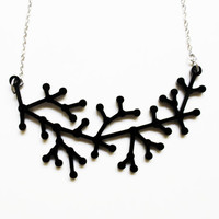 Black Neuron Necklace