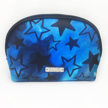Stars Saffiano Small Dome Cosmetic Bag