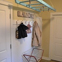 Chic DIY Drying Rack Of A Ladder | Shelterness