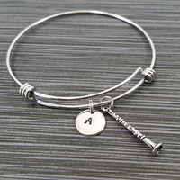 Silver Clarinet Bracelet - Band Student Bracelet - Personalized Bracelet - Musician Gift - Bangle Bracelet - Musical Instrument Jewelry