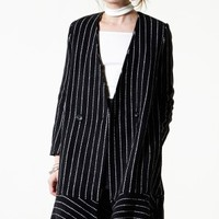 Swirling Hem Striped Coat - Clothing Discover the latest fashion trends online at storets.com