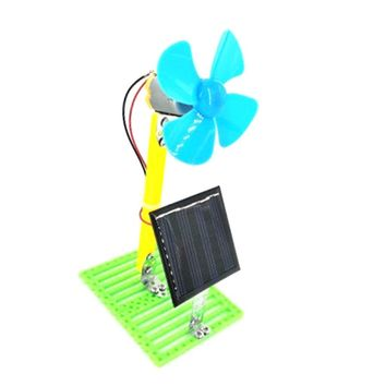 DIY Solar Powered Fan Physical Motor Circuit Science 3D Puzzle Science Toys