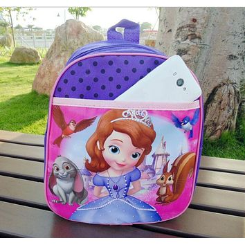 sofia the first sofia princess school bag Sofia backpack cartoon bag for girls