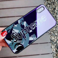 Supreme mobile phone shell 6s sets iphone7plus female tide brand atmosphere green