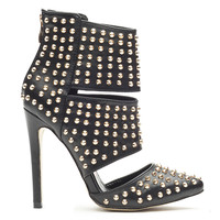 STUD PASSION TRIBAL BOOTIE - BLACK