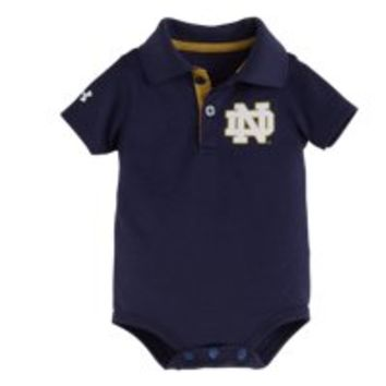Under Armour Boys' Newborn Notre Dame Polo Bodysuit