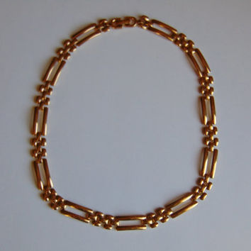 Vintage Monet Figaro 16 17 inch Chain Choker Necklace
