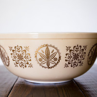 Vintage Pyrex Promotional Hex Designs Bowl