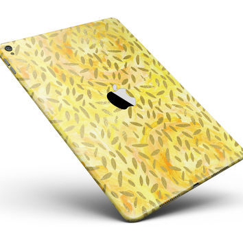 "The Orange Yellow Watercolors with Falling Pedals Full Body Skin for the iPad Pro (12.9"" or 9.7"" available)"