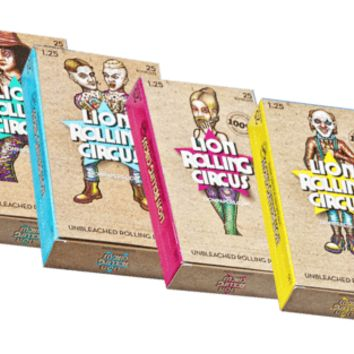 LION ROLLING CIRCUS - Unbleached - 1 1/4 - 1.25  / Box - 25 packs