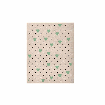 """Project M """"Pin Point Polka Dot Mint"""" Green White KESS Naturals Canvas (Frame not Included)"""