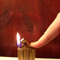 TWENTY OFF Evans Herringbone Gold Tone Lighter