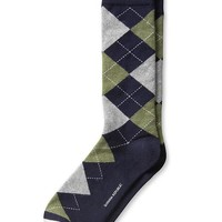 Banana Republic Argyle Sock Size One Size - Preppy navy