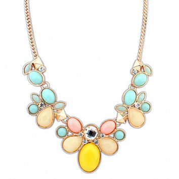Match-Right Bubble Bib  Chunky Statement Necklace Women Flower Necklaces & Pendants Summer Style Jewelry For Gift