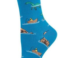 Socksmith Women's Novelty Crew - Loch Ness - Cotton/Lycra Blend