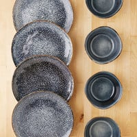 Gibson 8-Piece Clay Reactive Glaze Dinnerware Set - Urban Outfitters