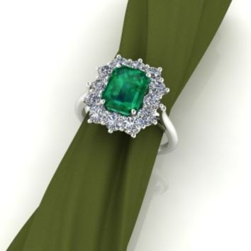 Emerald Cut Ring – custom designed by Elegant Jewelers