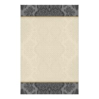 Lacy Vintage Floral in Gray Stationery