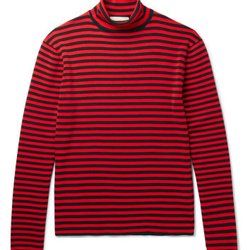 Gucci - Striped Cotton Rollneck Sweater