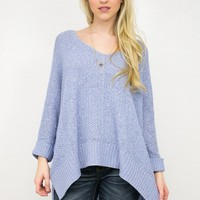 Oversized Pullover Sweater | Periwinkle