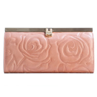 Rosa-Slim French Clasp Clutch Wallet-Antique Rose