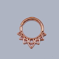 Silver nose ring, Gold nose ring, Body jewelry, Septum piercing