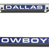 Rico Dallas Cowboys Laser Cut Chrome License Plate Frame