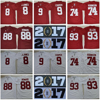 2017 Finals Jersey Patch Champions Men College Alabama Crimson Tide 8 Julio Jones 9 Amari Cooper 74 Cam Robinson OJ Howard 93 Jonathan Allen